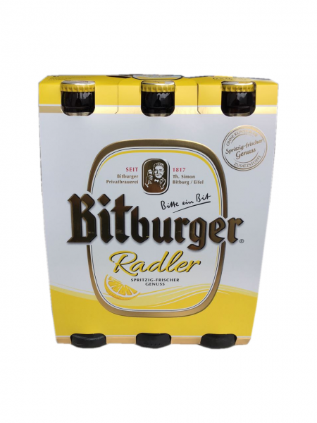 Bitburger Pils Radler 6x0,33L