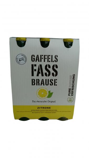 Gaffel Fassbrause Zitrone 6x0,33L
