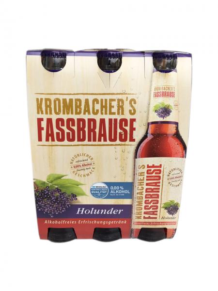 Krombacher Fassbrause Holunder 6x0,33L